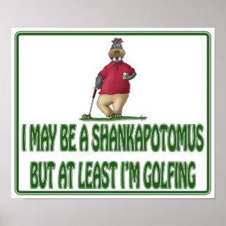 Posters engraçados do golfe: Hipopótamo de Shankap