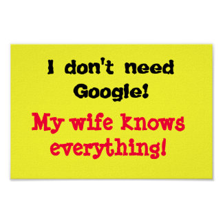 Posters engraçados eu não preciso Google
