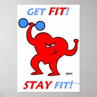 Posters engraçados inspiradores para o exercício