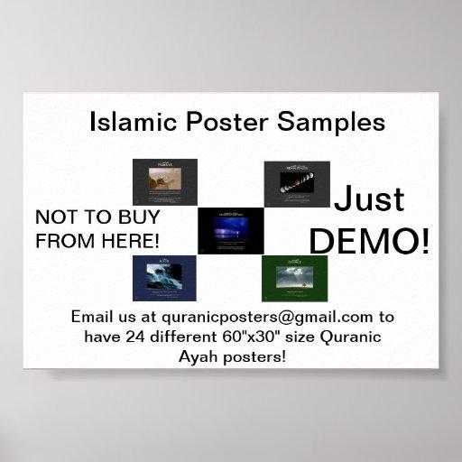 Posters islâmicos decorativos aceitáveis