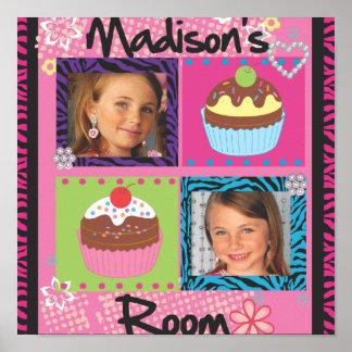 Posters personalizados da foto das meninas sala bo