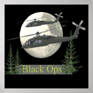 Posters pretos militares dos ops pôster