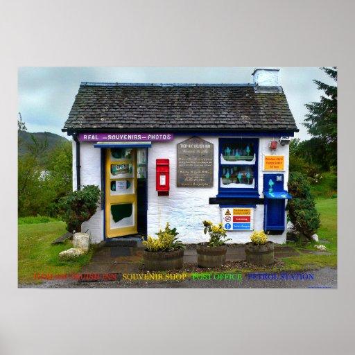 posto de gasolina da estação de correios da loja d pôsteres