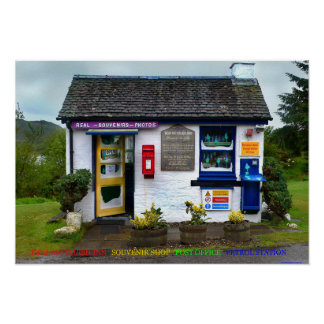 posto de gasolina da estação de correios da loja poster