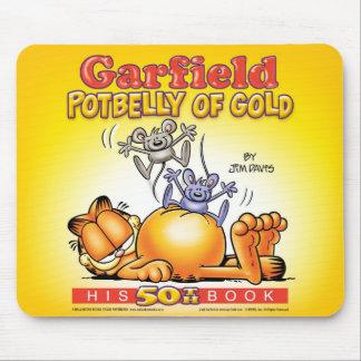 Potbelly de Garfield do ouro Mousepad