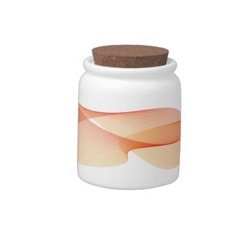 Pote de doces elegante da laranja da onda jarros de doces