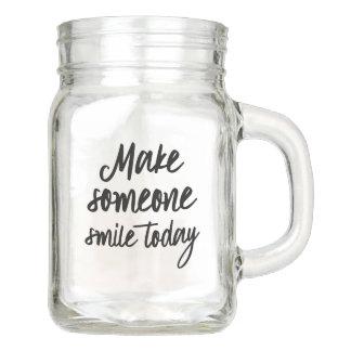 Pote De Vidro Mason Faça alguém sorrir