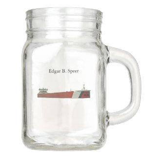 Pote De Vidro Mason Frasco de pedreiro de Edgar B. Speer
