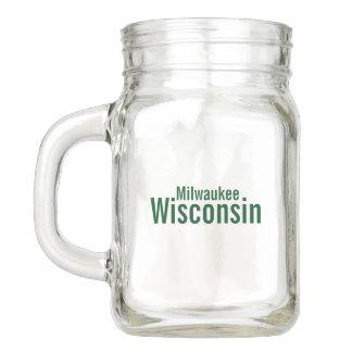 Pote De Vidro Mason Frasco de pedreiro de Milwaukee, Wisconsin
