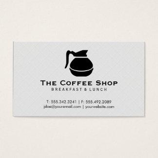Pote do café (preto) II, azulejo Cartão De Visitas