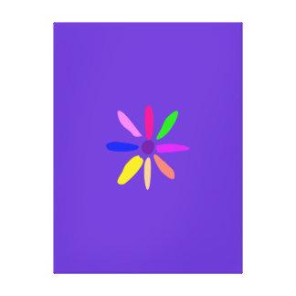 Pouca flor impressão de canvas envolvidas