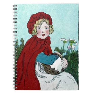 Pouco caderno da capa de equitação vermelha