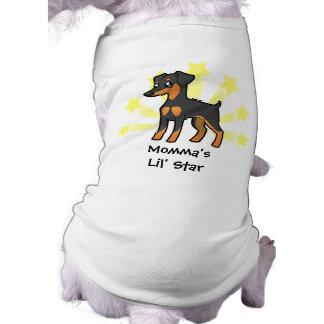 Pouco Pinscher diminuto /Manchester Terrier da est Camisa Sem Mangas Para Cachorro
