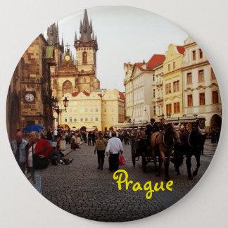 Praça da cidade velha - Praga, república checa Bóton Redondo 15.24cm