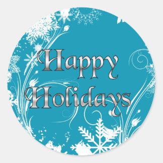 Prado azul do inverno - boas festas adesivo