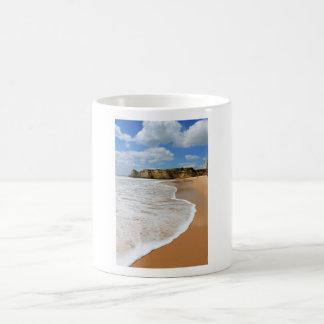 Praia a Dinamarca Rocha, praia do Algarve em Portu Canecas
