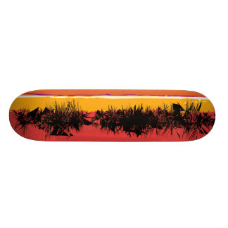 Praia abstrata shape de skate 18,7cm