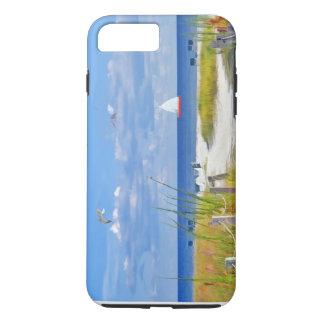 Praia, beira-mar, e pássaros, customizáveis capa iPhone 8 plus/7 plus