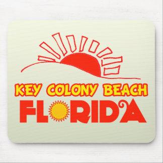 Praia chave da colônia, Florida Mouse Pads
