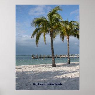 Praia chave de Florida do Largo Poster