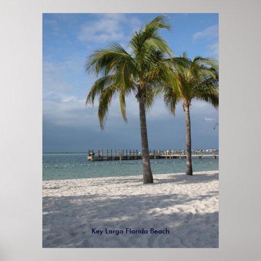 Praia chave de Florida do Largo Pôsteres