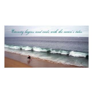 Praia da eternidade cartão com foto