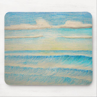 praia da paisagem mouse pad