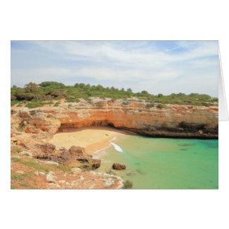 Praia de Albandeira Cartão Comemorativo