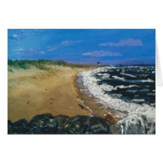 Praia de Cape Cod no crepúsculo Cartão
