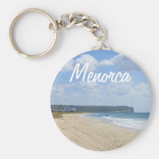 Praia de Menorca da lembrança de Bou do filho Chaveiro