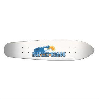 Praia de Nápoles Shape De Skate 21,6cm