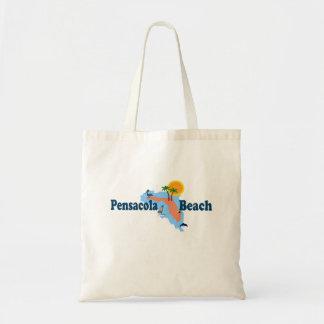 Praia de Pensacola Sacola Tote Budget