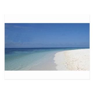 praia de relaxamento de acalmação cartão postal