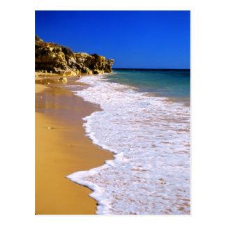Praia do ouro de Portugal Cartão Postal