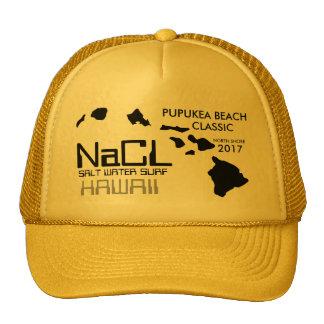 PRAIA do SURF PUPUKEA da ÁGUA SALGADA do NaCL Boné