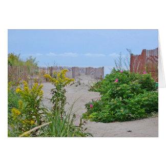 Praia Notecard de Hammonasset Cartão