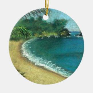 Praia Ornamento De Cerâmica Redondo