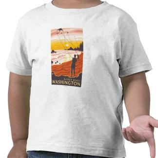 Praia & papagaios - praia do por do sol, tshirt