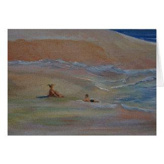 Praia privada cartão