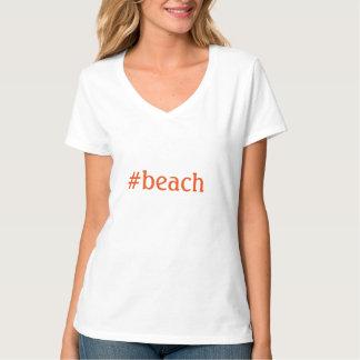 # praia - TSHIRT da praia de Hashtag