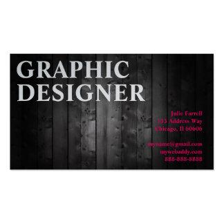 Prancha da madeira do design gráfico do artista cartão de visita