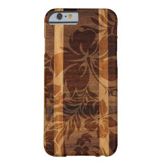 Prancha da madeira do falso da praia de Keokea Capa Barely There Para iPhone 6