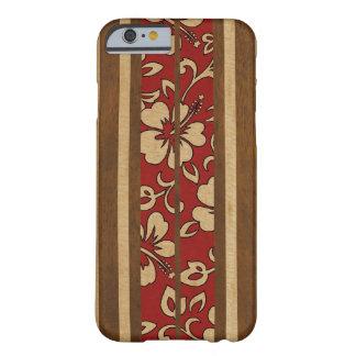 Prancha havaiana da madeira do falso do vintage de capa barely there para iPhone 6