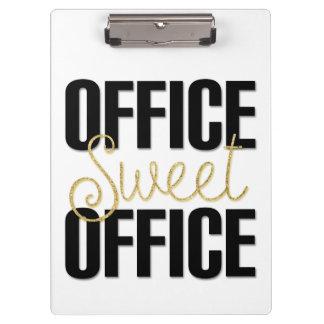 Prancheta doce do escritório do escritório para o