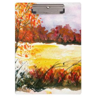 Pranchetas Árvores abstratas do outono da arte da paisagem da