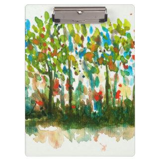 Pranchetas Floresta abstrata das árvores da arte da paisagem