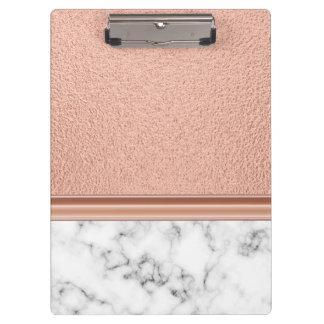 Pranchetas Folha de ouro cor-de-rosa no mármore