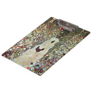 Pranchetas Galinhas de w do trajeto do jardim, Gustavo Klimt,