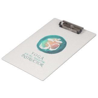 Pranchetas Instrutor da mediação da ioga do símbolo do OM da