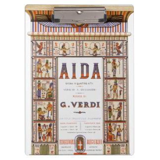 Pranchetas Música da ópera do vintage, egípcio Aida por Verdi